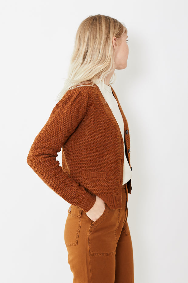 The Great The Puff Sleeve Cardigan