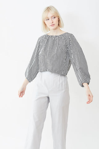 Tomorrowland Cropped Gather Blouse