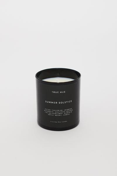 True Hue Black Glass Soy Candle