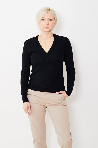 Veronica Beard Coleta V-Neck Cashmere Sweater