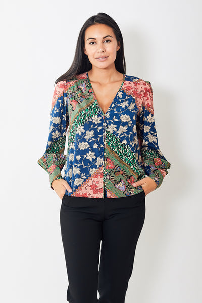 Veronica Beard Sura Blouse