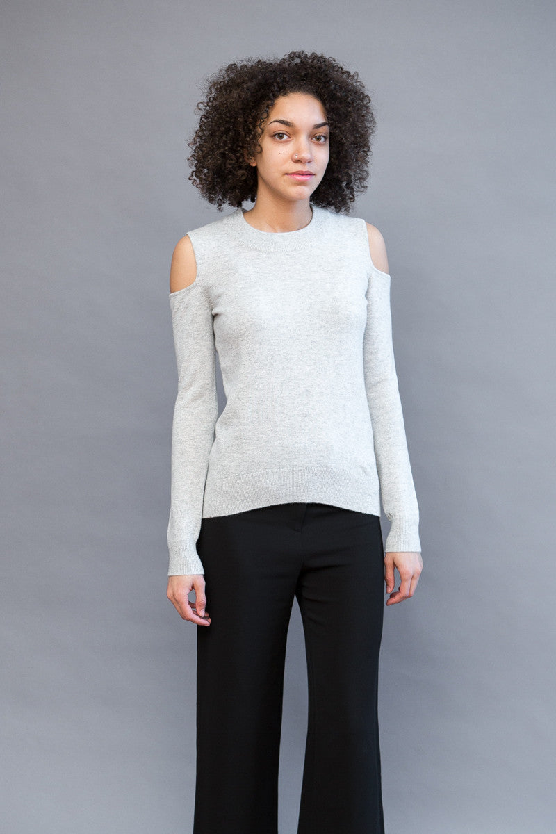 Veronica Beard Central Cold Shoulder Sweater