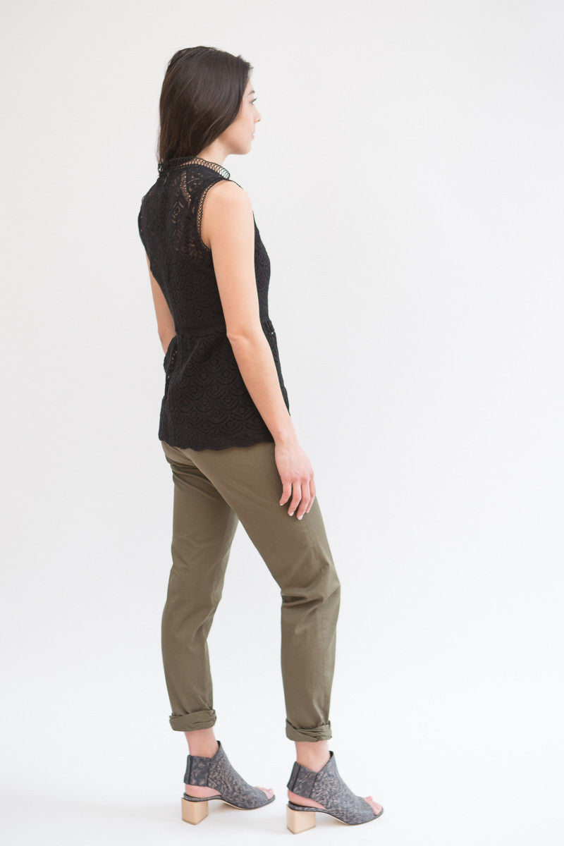 Veronica Beard Coach Cuffed Pant