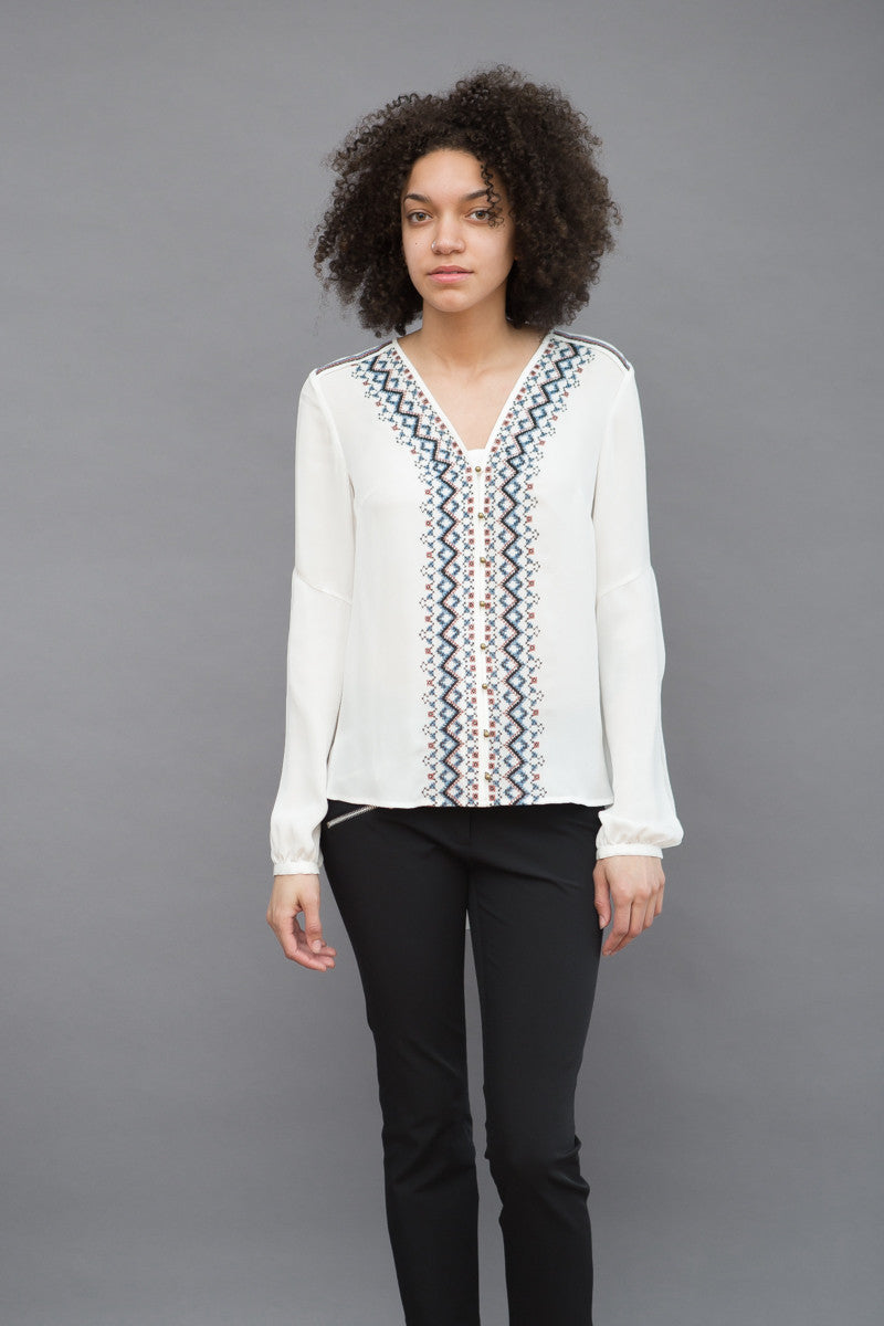 Veronica Beard Dream Embroidered Blouse