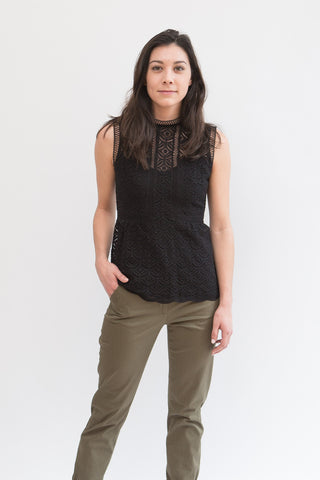 Veronica Beard Edie Peplum Top