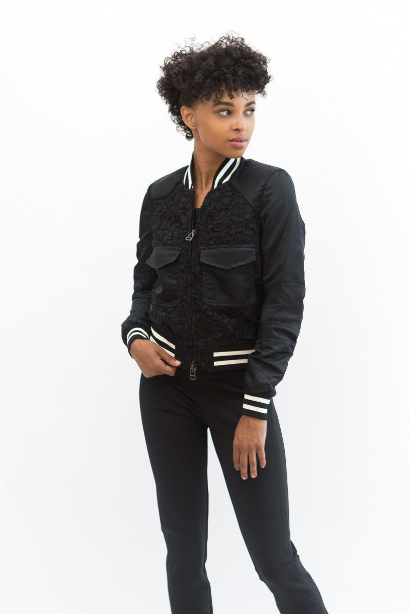 Veronica Beard Jones Mixed Media Jacket