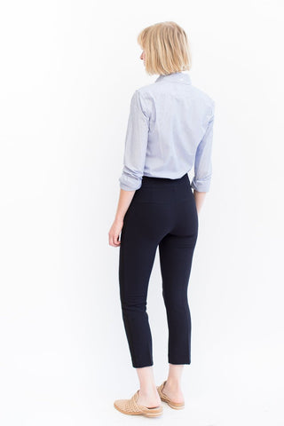 Veronica Beard Mila Cropped Tux Pant