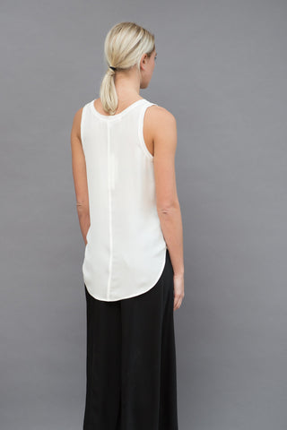 Veronica Beard Raw Edge Silk Tank