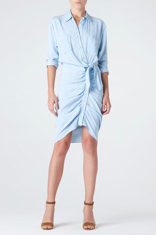 Veronica Beard Sierra Ruched Mini Dress
