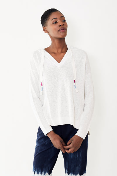 White + Warren Cotton Linen Blend Beach Hoodie