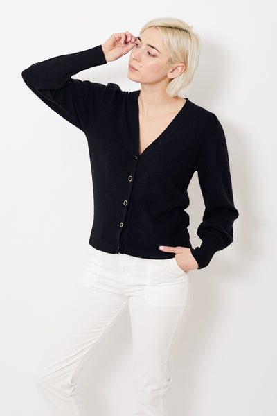 White + Warren Feminine Sleeve Cardigan Top