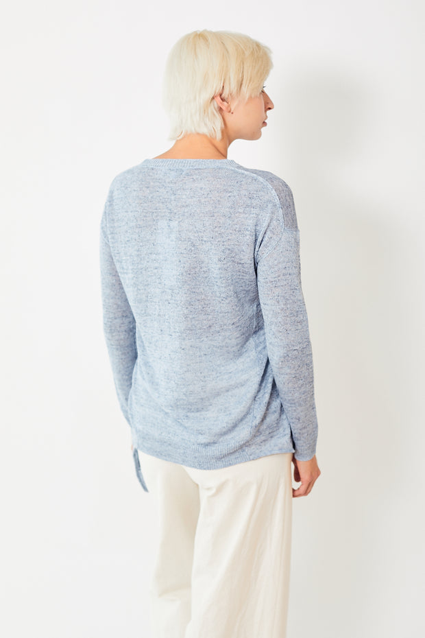 White + Warren Knotted Crewneck