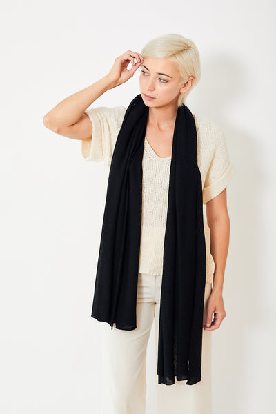 White + Warren Mini Linen Travel Wrap
