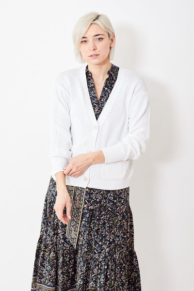 White + Warren Patch Pocket Cardigan