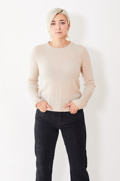 White + Warren Pointelle Detail Crew Neck