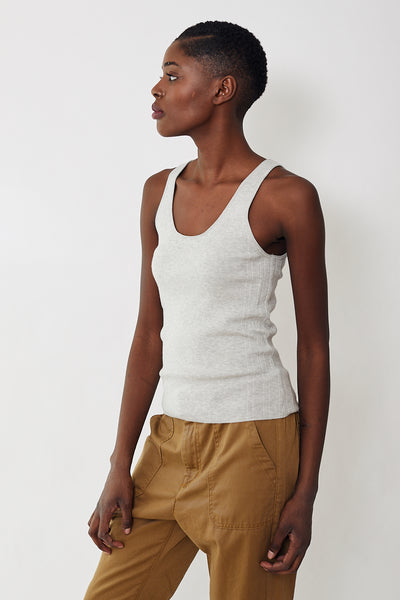 White + Warren Ribbed Layering Tank
