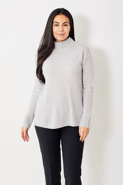 White + Warren Rollneck Tunic Sweater