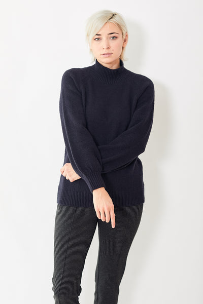 White + Warren Textured Stand Neck Sweater