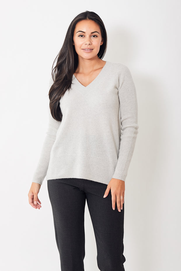 White + Warren V Neck Tunic