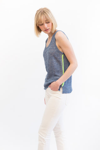 White + Warren Blanket Stitch Tank