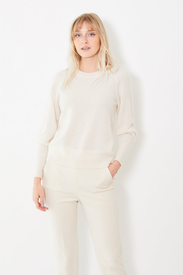 White + Warren Blouson Sleeve Crewneck