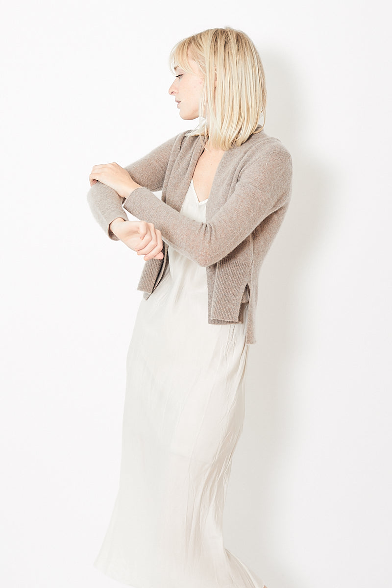 White + Warren Cashmere Shrunken Pocket Cardigan