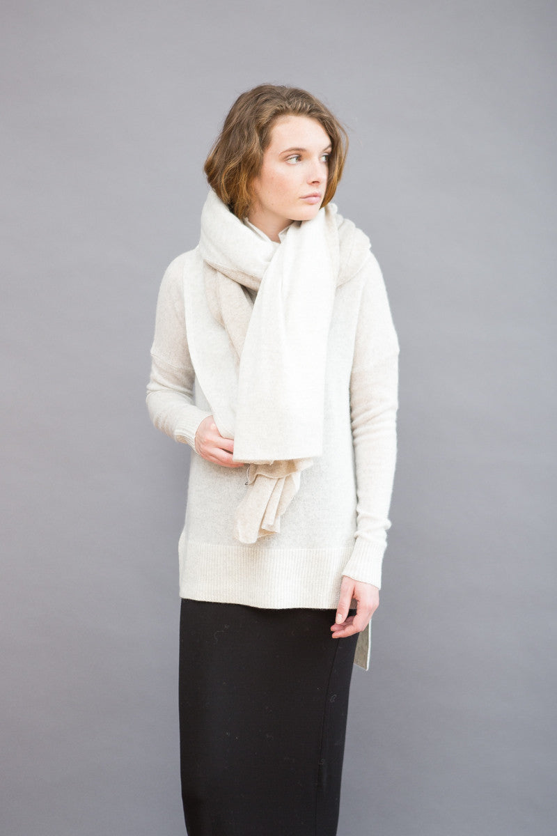 White + Warren Color Splice Travel Wrap