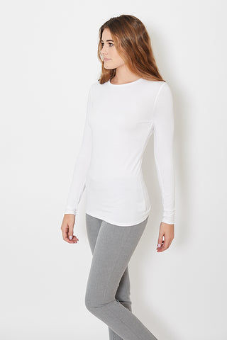 White + Warren Cotton Modal Crewneck