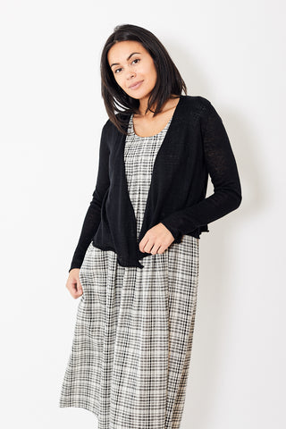 White + Warren Cropped Swing Cardigan