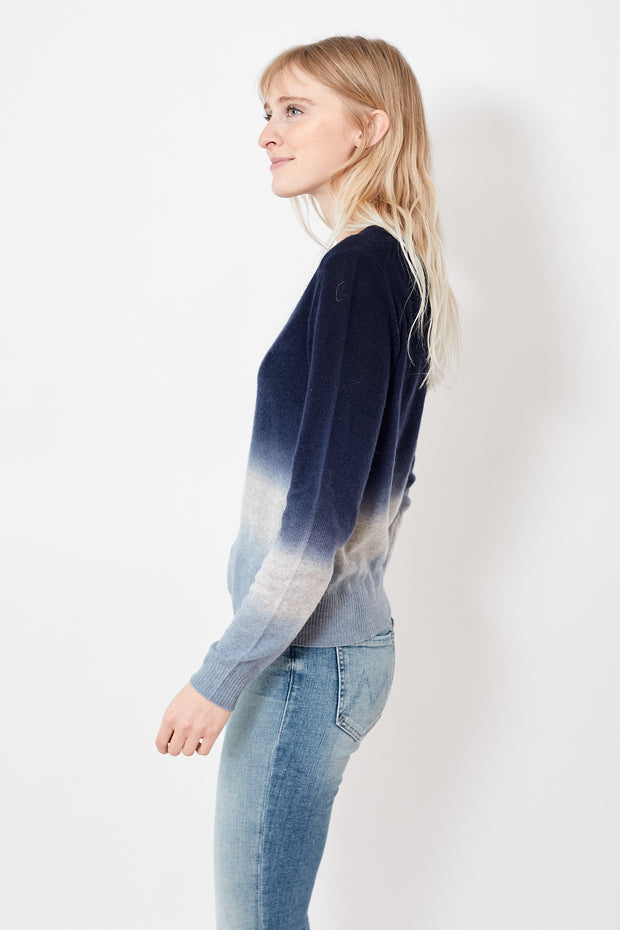White + Warren Dip Dye Crewneck