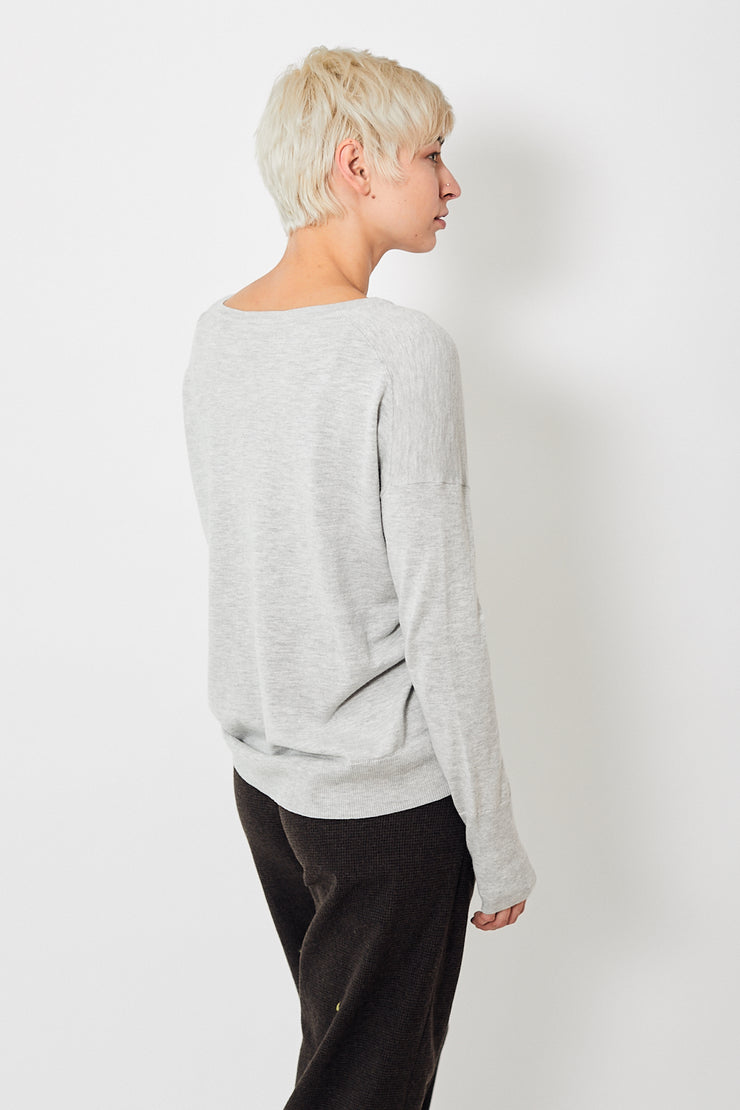 White + Warren Drop Shoulder V Neck