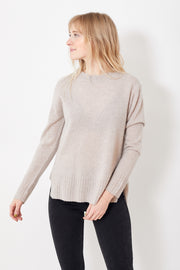 White + Warren Easy Wide Rib Hem Crew