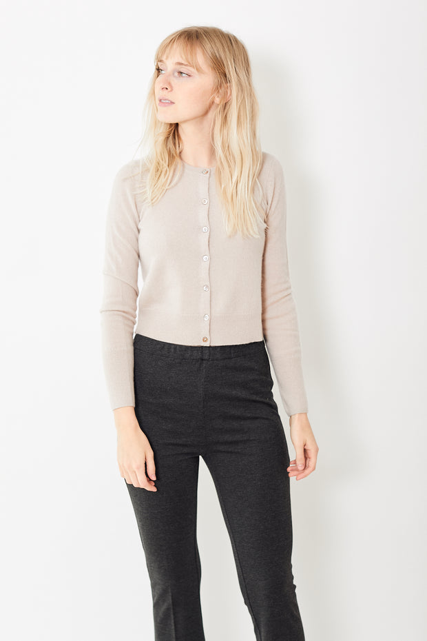 White + Warren Essential Cashmere Crewneck Cardigan