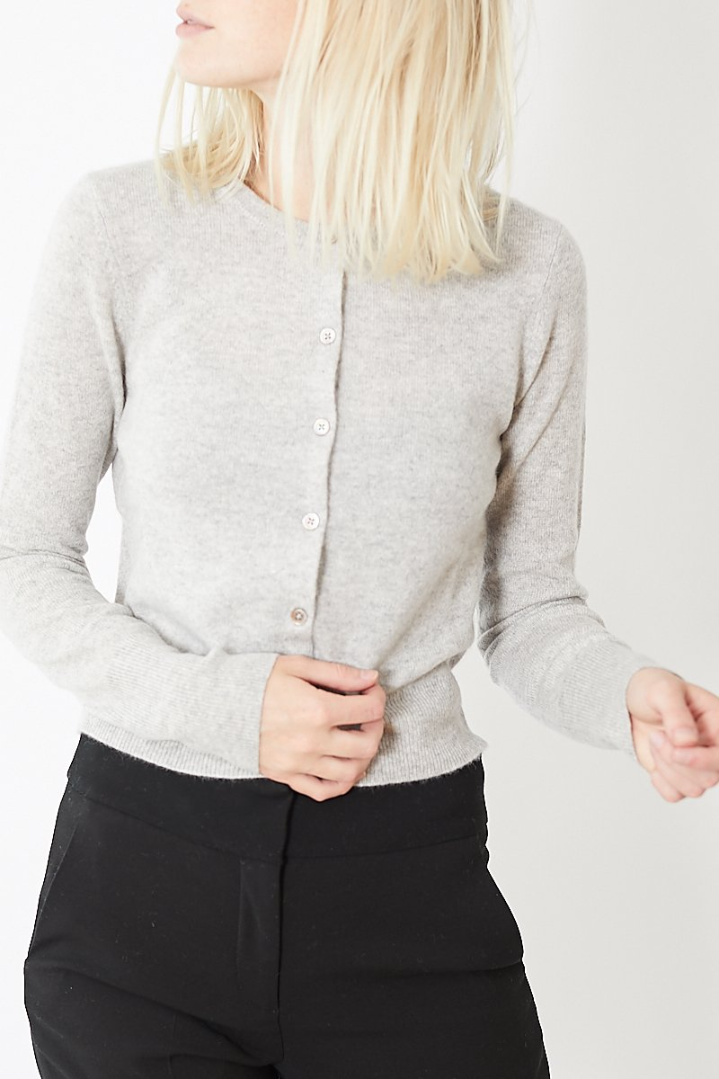 White + Warren Essential Crewneck Cardigan