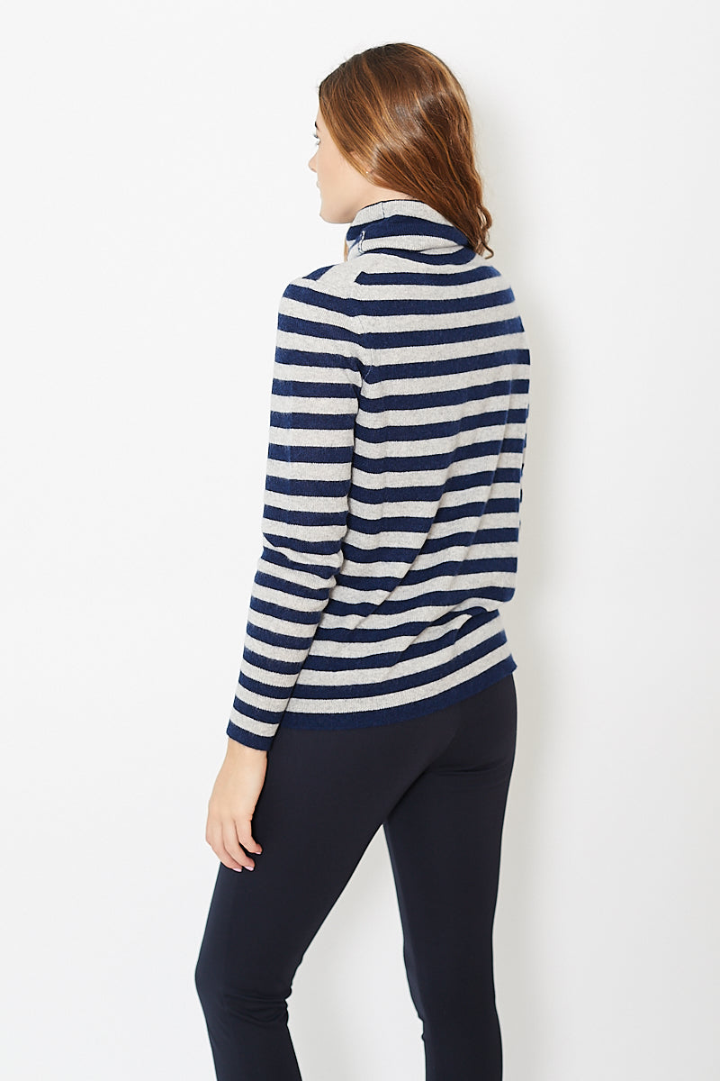 White + Warren Essential Stripe Turtle