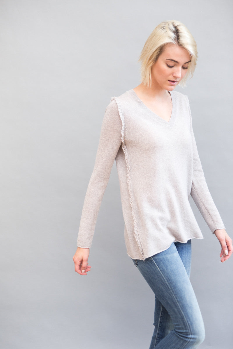 White + Warren Fringe Edge Tunic - grethen house