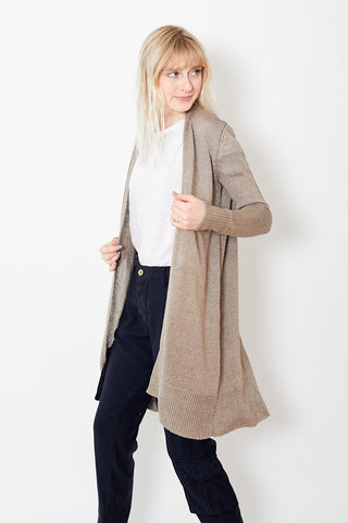 White + Warren Long Open Cardigan