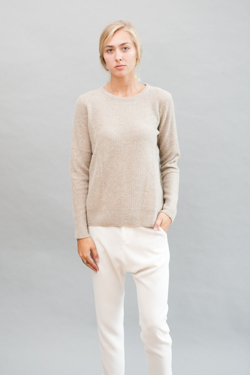 White + Warren Mixed Thermal Crewneck