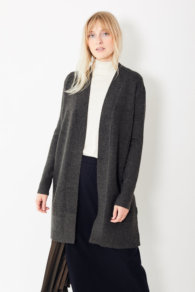 White + Warren Open Long Cardigan