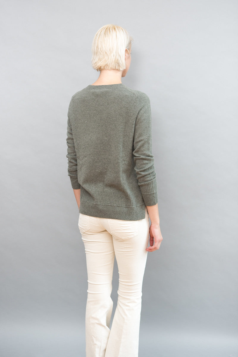 White + Warren Ottoman Rib Trim Crewneck