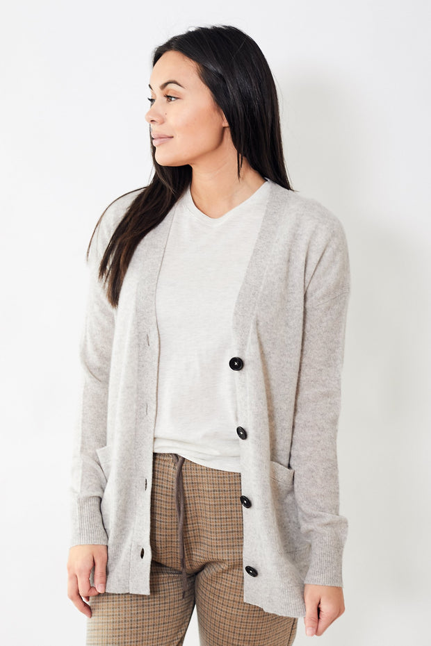 White + Warren Oversized Boyfriend Cardigan