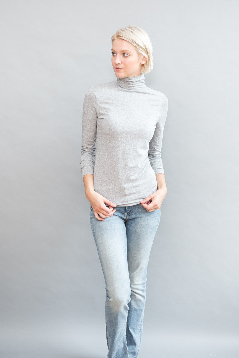 White + Warren Scrunch Neck Tee - grethen house