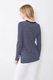 White + Warren Striped Thermal