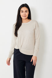 White + Warren  Twisted Hem Crewneck