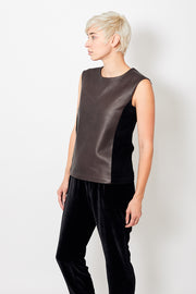 Zero + Maria Cornejo Leather Mira Tank