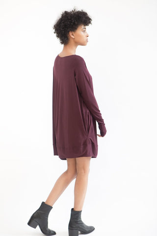 Zero + Maria Cornejo Long Sleeve Off Shoulder Bubble Dress