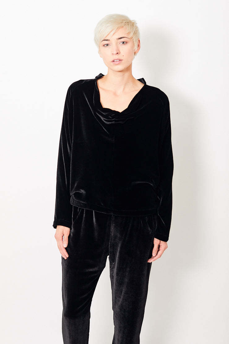 Zero + Maria Cornejo Long Sleeve Velvet Evi Top