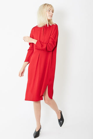 Zero + Maria Cornejo Pleat Rami Dress Eco Drape