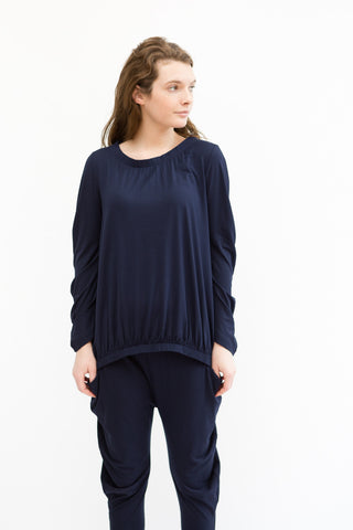 Zero + Maria Cornejo Ruched Bubble Top