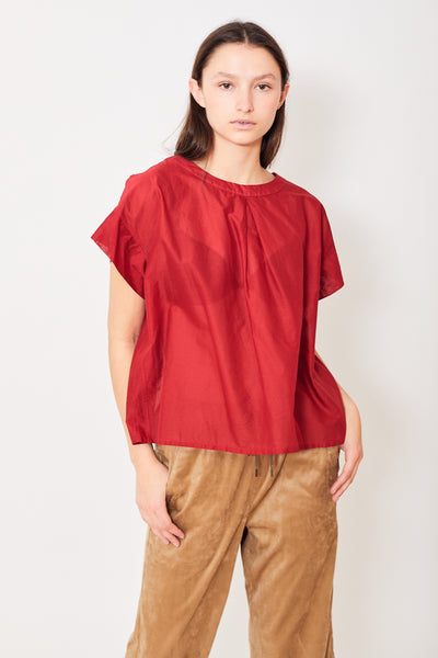 Zucca Cotton S/S Single Pleat Top